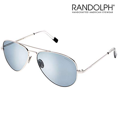 Concorde Aviator Sunglasses for Men or Women - Randolph Engineering Sunglasses, Guaranteed for Life, Built to Military Specifications Authentic Pilot Aviators. Made in USA. 23k White Gold, Blue H 57mm (Kinder Aviator Sonnenbrille Billig)