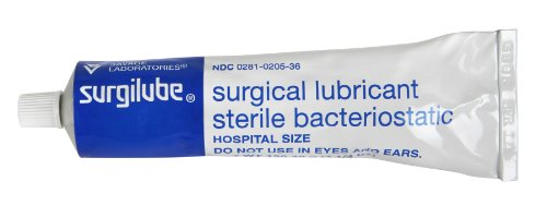 Medline Surgilube Sterile Bacteriostatic Surgical Lubricant Jelly - 4.25 Ounces, 6 Pack