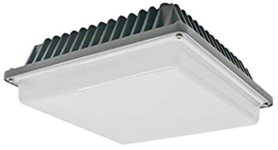 American Lighting GC-20-47-DB 4700K 2500 Lumens 39-watt Industrial Series LED Canopy Ceiling Light Fixture, Warm White/Dark Bronze, 1-Pack