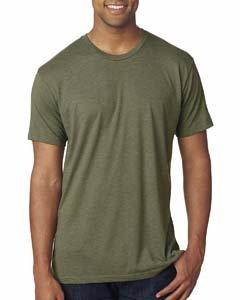 Next Level Apparel 6010 Mens Tri-Blend Crew - Military Green