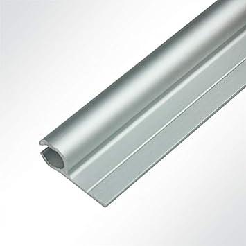 LYSEL/® Kederschiene 15x30mm eloxiert 1m 90/° Grau /Ø10mm f/ür Keder 6-9mm