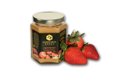 Desert Creek Honey Strawberry Creamed Honey, 14 - Honey Flavored