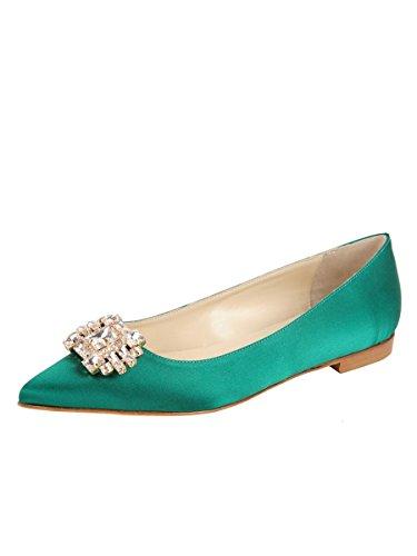 Butter Shoes Womens Chancey Flat Green