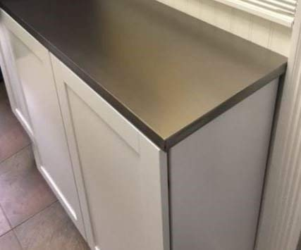 Brushed Stainless Dishwasher Cover: As Seen On TV The Rachael Ray Show, Peel & Stick BRUSHED STAINLESS NICKEL Finish Cover 26'' X 36'' (cut to fit GE,Amana, SPT, Whirlpool, Frigidaire, Bosch and more) by EZ FAUX DECOR (Image #4)