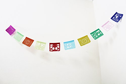 Price comparison product image Toda Ocasion Papel Picado TISSUE Banner SMALL - 4 Feet Long - 10 Small Tissue Panels - By Paper Full of Wishes
