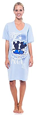 Disney Mickey Minnie Mouse + Grumpy V-Neck Sleep Shirt One Size Fits Most