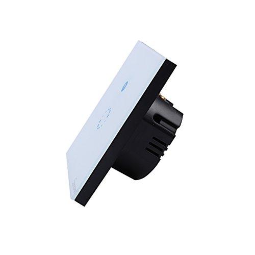 Sonoff EU Plug Wifi Télécommande tactile sans fil Commutateur en verre trempé Commutateur LED Light Wall Switch