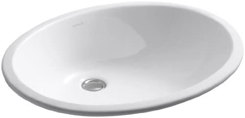 KOHLER K-2211-0 Caxton Undercounter Bathroom Sink, White