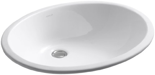 (KOHLER K-2211-0 Caxton Undercounter Bathroom Sink, White)
