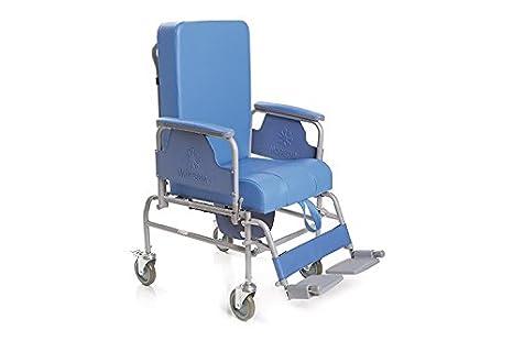 Sedia comoda wc pieghevole moretti in acciaio con schienale fisso