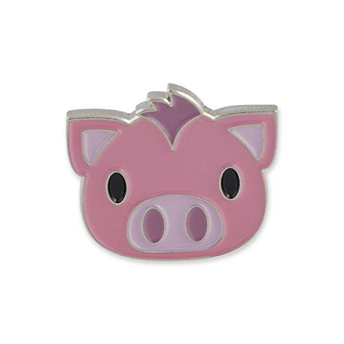 Forge Pig Face Emoji Soft Enamel Lapel Pin - Oink! Oink! ()