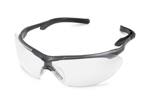 Gateway Safety 35GY80 Flight Cushioned Eye Safety Glasses, Clear Lens, Gray - Nosepiece For Glasses Rubber
