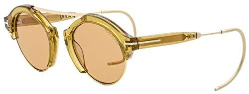 Tom Ford Farrah 02 Signature Fashion Oval Sunglasses Brown O/S