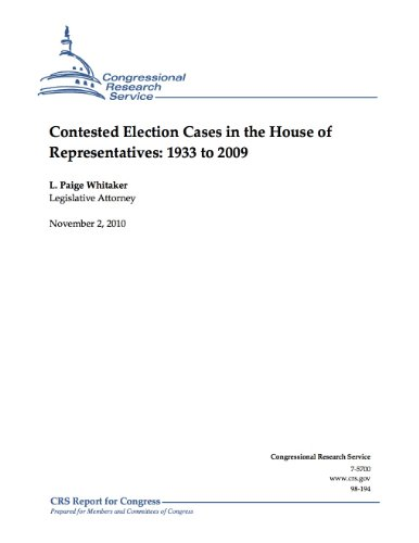 Contested Election Cases in the House of
