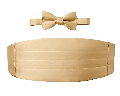 Spring Notion Big Boys' Cummerbund and Bow Tie Set M Antique Gold