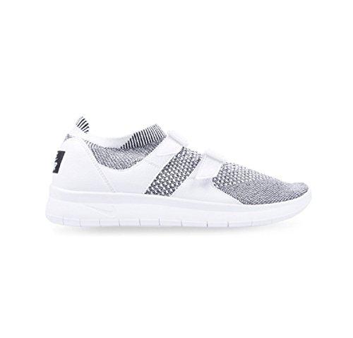 Nike Kvinnor Luft Sockracer Flyknit Vit / Vit-svart 896447-101 Löparskor 7,5