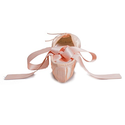 Shoes HROYL Women Girls Ladies Ballet Shoes Pink Flat with Sole ZABC Dance C Ribbon Point Dance for Split Ballet rvqd8prw