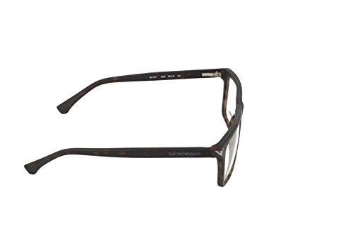 31b9397ae5 ... Emporio Armani Montures de lunettes 3071 Pour Homme Matte Black, 53mm  5089: Matte Tortoise