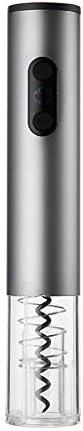 Sacacorchos de vino de alta gama Abrebotellas automático Duradero de acero inoxidable Inalámbrico Eléctrico Abrebotellas Removedor de corcho for vino y cortador de papel de aluminio (funciona con bate