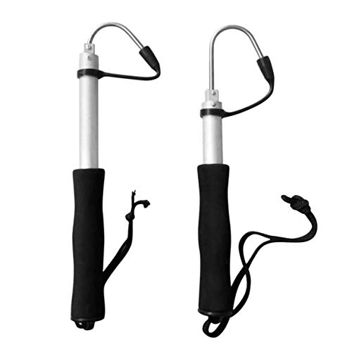 Detectoy 60cm Or 120cm Stainless Steel Sea Telescopic Fishing Gaff Aluminum Alloy Spear Hook Fish Tackle Outdoor Fishing Tool by Detectoy (Image #5)