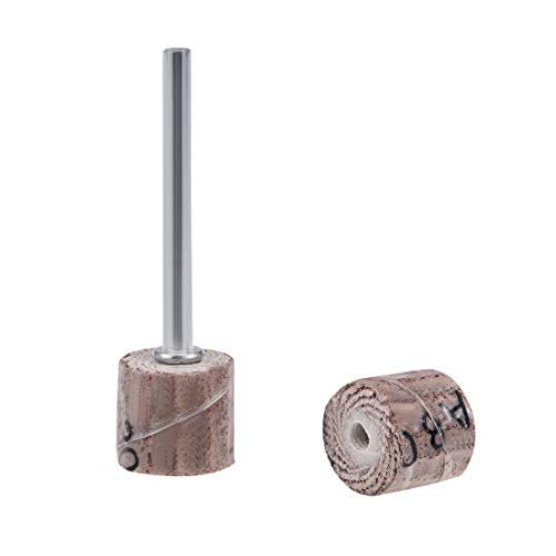 8 Pieces 10x10mm Flap Wheel 80 Grains Abrasive Abrasive Head with 1//8 inch Shank for Rotary Tool