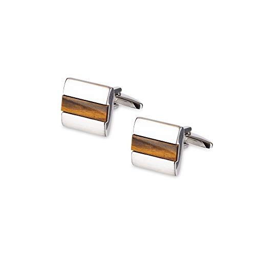 Kenneth Cole REACTION Men's Cufflinks, brown/silver, One Size