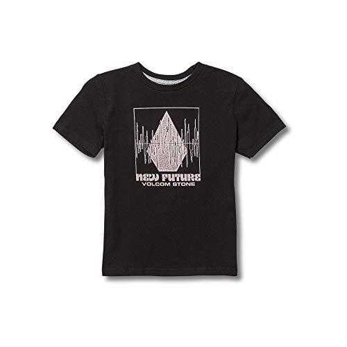Stone Youth T-shirt (Volcom Little Boys' Crisp Stone Basic Fit Short Sleeve Tee Youth Black)