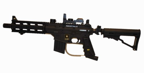 Black Tippmann US ARMY Project Salvo Paintball Gun w/ Red Dot Sight (Rifle Tippmann Sniper)