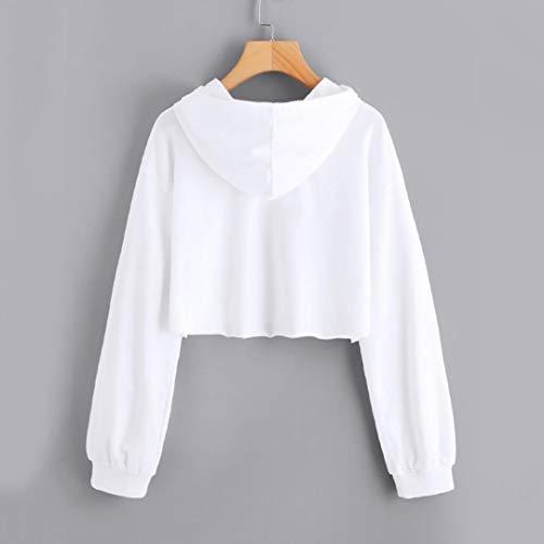 Manica Lunga Maniche Sweatshirt Arcobaleno Lunghe Autunno Beautyjourney Felpe Felpa shirt Top Maglie Girocollo Ragazza T Donna Hoodie Camicetta Eleganti B Tumblr bianco qwBUTwz