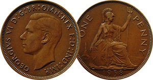 Almost Uncirculated 1938 English Penny -- Very Nice! (Uncirculated Nice Coin)