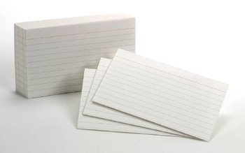 Esselte Card (3 x 5 White Ruled Index Cards; 1000 Card Pack; no. ESS00031)