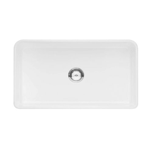Blanco 524257 Cerana Ii Fireclay 0-Hole Undermount Single Bowl Kitchen Sink, 33.5