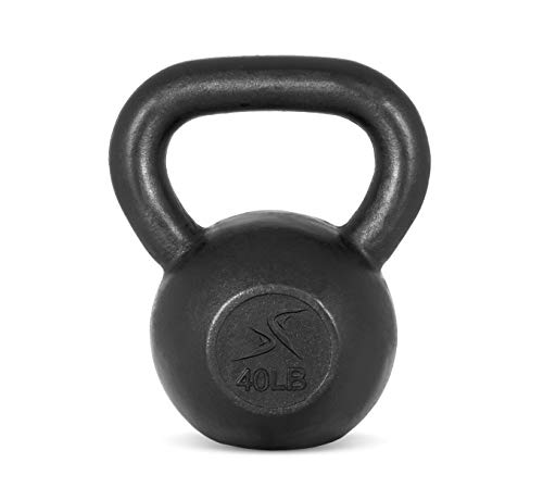 Prosource Fit Solid Cast Iron Kettlebells Weights for Full Body Workout, 40 pounds