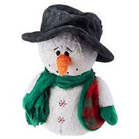 BeanTowne Collection - 7 inch Balsam Fir Scented Soy Whimsical Snowman (No Burn Room Fragrancer) (Wax Dipped Bears)