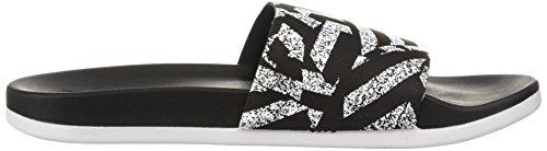 Adidas Kvinna Adilette Cf + Länk Gr W Glid Sandal Kärna Svart / Vit / Kärna Svart