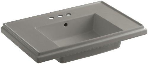 KOHLER K-2758-4-K4 Tresham 30-Inch Pedestal Bathroom Sink Basin with 4-Inch Centerset Faucet Drilling, Cashmere 30 Tresham Pedestal Lavatory