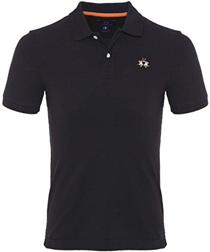 la-martina-slim-fit-pique-polo-shirt-black-s