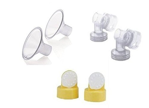 Medela Breast Shields, Connectors, Valves and Membranes (21mm Shields)