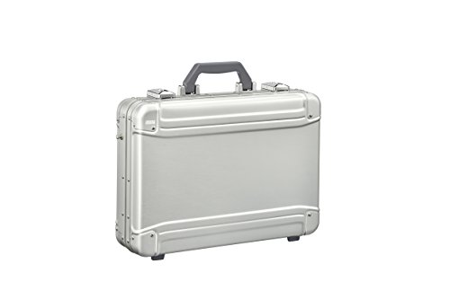 (Zero Halliburton Geo Aluminum 3.0 Attaché-Large Computer Case Briefcase, Silver, One Size)