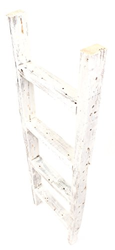 BarnwoodUSA Rustic Farmhouse Decorative Ladder - Our 4ft 2x3 Ladder can be Mounted Horizontally or Vertically | Crafted…