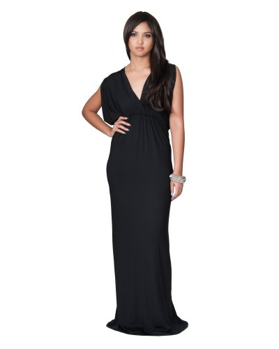 long black grecian dress - 6