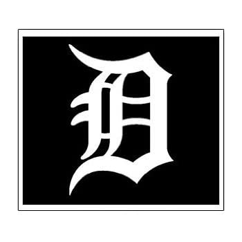 Detroit tigers d decal sticker white 24 inch