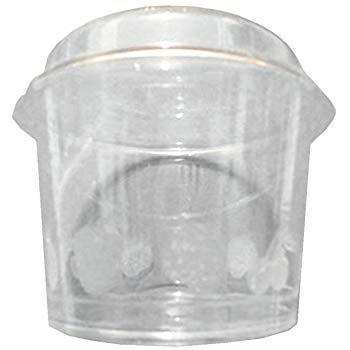 PZ 100 COPPETTE COLORATE CC 150 DI PLASTICA COPERCHIO PER MACEDONIE YOGURT E GELATI PLASTIC CUP FOR ICE CREAM