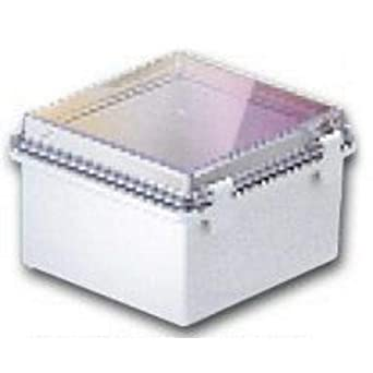BUD Industries NBB-10263 Style B Plastic Indoor Box with Clear Door Light Gray Finish 11-17//64 Length x 7-15//32 Width x 5-1//2 Height 11-17//64 Length x 7-15//32 Width x 5-1//2 Height