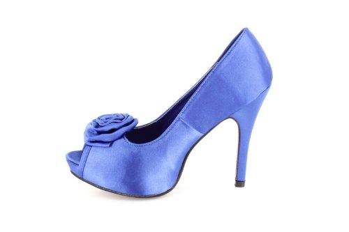 Farben Blau Peeptoe 46 Machado Andres Größen Satin Empfang oder bis jeden Party Blau die verschiedenen für 32 Absatz Pumps cm Ideal Kleine 11 große für in und xxSFnr