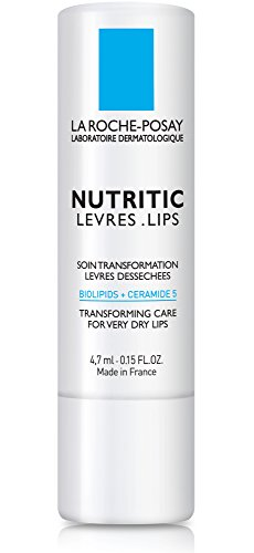 La Roche-Posay Nutritic Lips Transforming Care Lip Balm for Very Dry Lips with Shea Butter, 0.15 Fl. Oz.