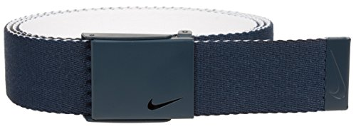 Nike Men's New Tech Essentials Reversible Web Belt, College Navy/White, One Size