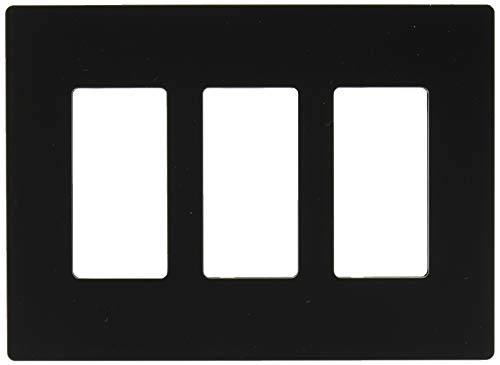(Legrand - Pass & Seymour radiant RWP263BK Three-Gang Screwless Wall Plate, Black)
