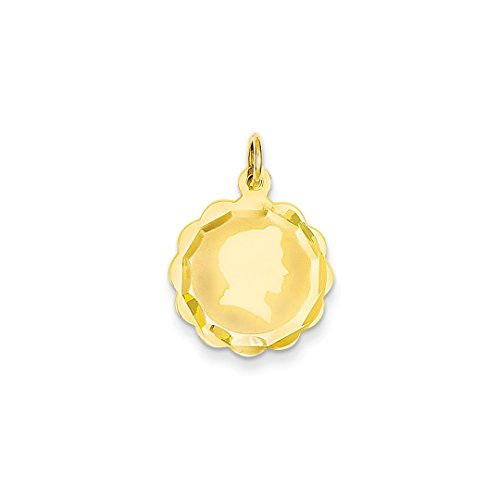 14k yellow gold boy head on 013
