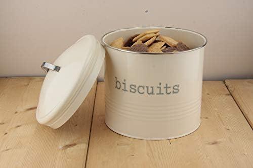 color panna in latta Barattolo per biscotti rotondo